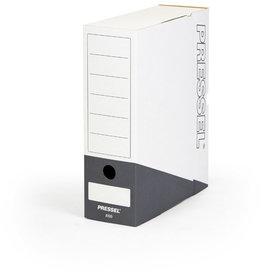 Pressel Archivbox, 100 mm, Steckverschluss, 10x26x32cm, weiß/anthrazit