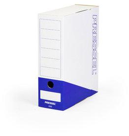 Pressel Archivbox, Steckverschluss, A4, 10x26x32cm, weiß/blau
