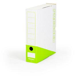 Pressel Archivbox, Steckverschluss, A4, 7,5x26x32cm, weiß/apfelgrün