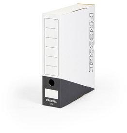 Pressel Archivbox, Steckverschluss, A4, 7,5x26x32cm, weiß/anthrazit