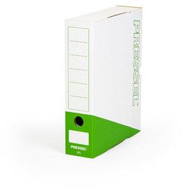 Pressel Archivbox, Steckverschluss, A4, 7,5x26x32cm, weiß/dunkelgrün