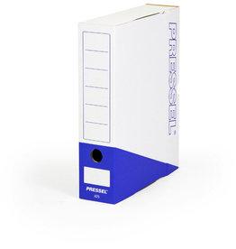 Pressel Archivbox, Steckverschluss, A4, 7,5x26x32cm, weiß/blau