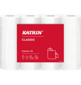 KATRIN Küchenrolle, Classic KITCHEN 50, 2lagig, 50 Blatt, 23 x 26 cm, weiß