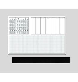 GÜSS Schreibunterlage, 2019/20/21, m.Kst.leiste, 60 x 40 cm, weiß, 50 Blatt