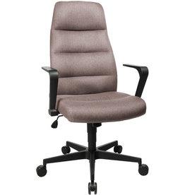TOPSTAR Bürostuhl CHAIRMAN 70, mit Armlehnen, schwarz, Stoff, graubraun