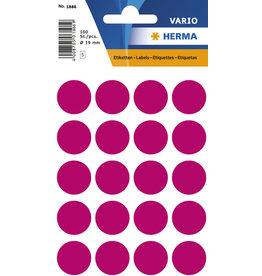HERMA Markierungspunkt, Handbeschriftung, sk, Ø: 19 mm, pink