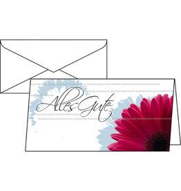 sigel Designkarte, Glückwunsch, Klappkarte mit Umschlag, DL, bunt