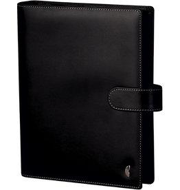 Chronoplan Ringbuch Standard Einsteiger Slim, A5, Kunstleder, schwarz