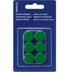MAUL Magnet, rund, Ø: 20 mm, Haftkraft: 300 g, grün