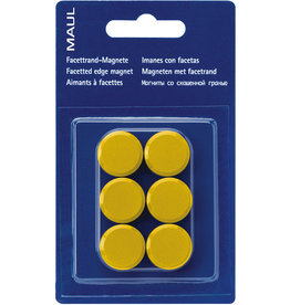 MAUL Magnet, rund, Ø: 20 mm, Haftkraft: 300 g, gelb