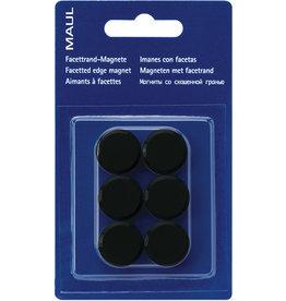 MAUL Magnet, rund, Ø: 20 mm, Haftkraft: 300 g, schwarz