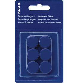 MAUL Magnet, rund, Ø: 20 mm, Haftkraft: 300 g, blau