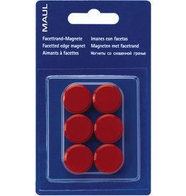 MAUL Magnet, rund, Ø: 20 mm, Haftkraft: 300 g, rot