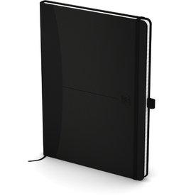 Oxford Notizbuch Office Signature, kariert, A5, weiß, Einband: schwarz, 80Bl.