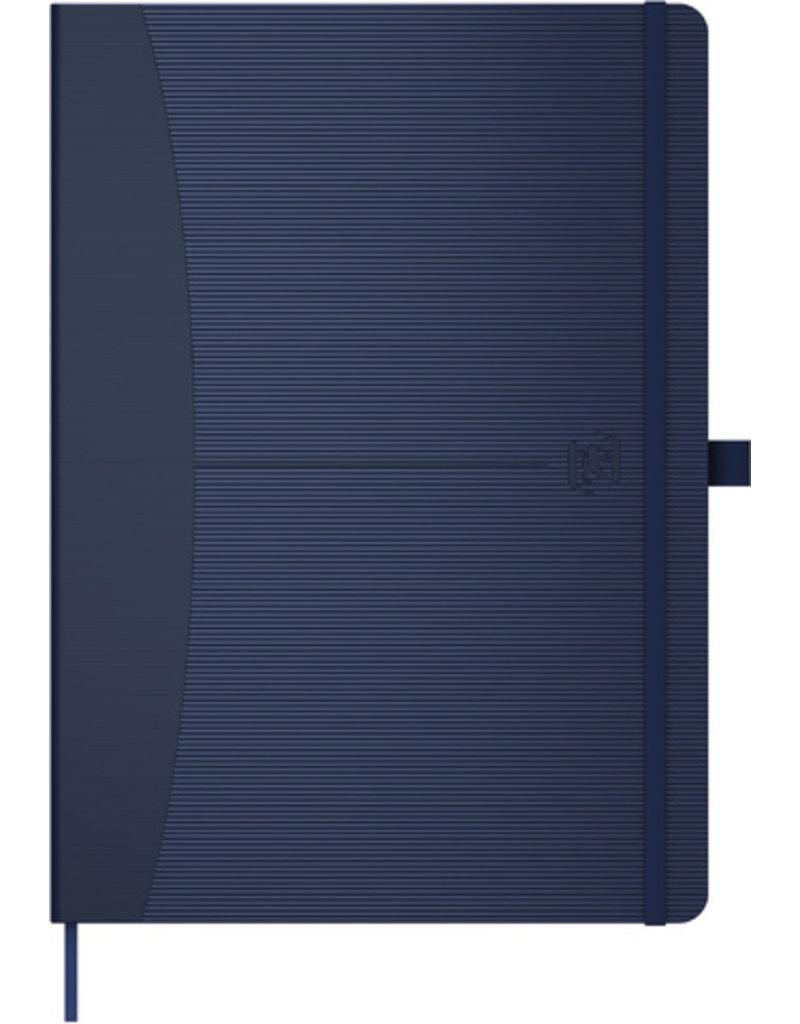 Oxford Notizbuch Office Signature, liniert, A5, weiß, Einband: blau, 80Bl.