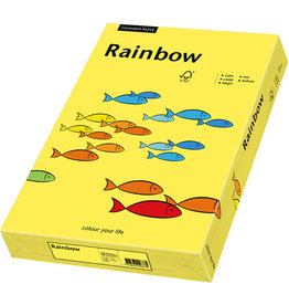 Rainbow Multifunktionspapier, A5, 80 g/m², gelb, intensiv
