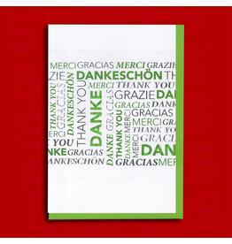 Kundenartikel Grußkarte Danke gruen [5st]