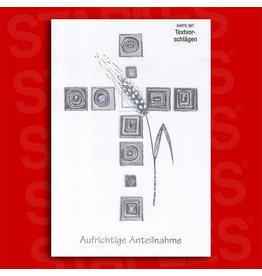 Kundenartikel Trauerkarte Kreuz [5st]