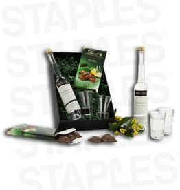 Kundenartikel Williams-Christ-Variation (Birnenschnaps + Gläser + Schokolade)