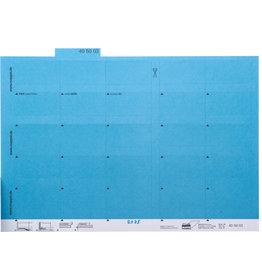 MAPPEI Reiter, Karton, zum Kleben, 55 x 10 mm, blau