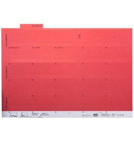 MAPPEI Reiter, Karton, zum Kleben, 55 x 10 mm, rot