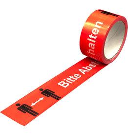Warnband, Bitte Abstand halten, 50 mm x 66 m, rot [6st]