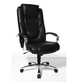 STAPLES Bürostuhl SOFT LUX, mit Armlehnen, Kunstleder, schwarz