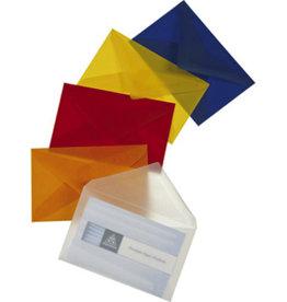 MAYSPIES Transparente Premium Visitenkartenumschläge, gummiert, rot, 100 Stück
