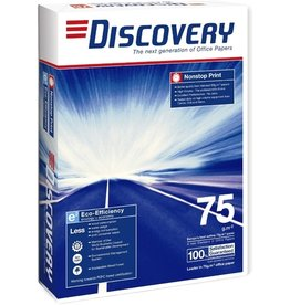 DISCOVERY Multifunktionspapier, A4, 75g/m², 2fach Lochung, ECF, hochweiß, matt