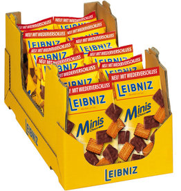 LEIBNIZ Gebäck, Minis Choco, Vollmilch, Karton, 12x125g