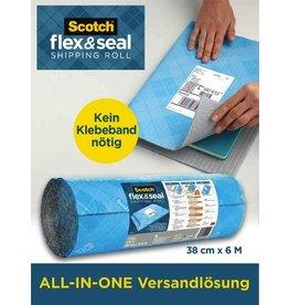 Scotch Luftpolsterfolie Flex & Seal, 38 cm x 6 m, blau