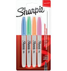 Sharpie Permanentmarker Fine, Rundspitze, Schreibf.: 4er pastell sortiert