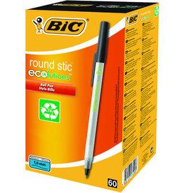 BIC Kuli ecolutions® round stic™, mit Kappe, 0,4 mm, Schreibf.: schwarz