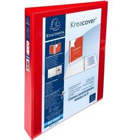 EXACOMPTA Ringbuch Kreacover, A4+, überbreit, 4-D-R-Mech., Ring-Ø: 25mm, rot