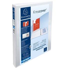 EXACOMPTA Ringbuch Kreacover, A4+, überbreit, 4-D-R-Mech., Ring-Ø: 15mm, weiß