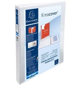 EXACOMPTA Ringbuch Kreacover, A4+, überbreit, 4-D-R-Mech., Ring-Ø: 20mm, weiß