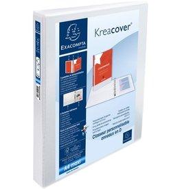 EXACOMPTA Ringbuch Kreacover, A4+, überbreit, 4-D-R-Mech., Ring-Ø: 30mm, weiß