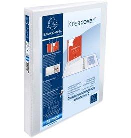 EXACOMPTA Ringbuch Kreacover, A4+, überbreit, 4-D-R-Mech., Ring-Ø: 25mm, weiß