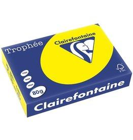 Clairefontaine Multifunktionspapier Trophée, A4, 80 g/m², sonnengelb, intensiv