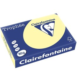 Clairefontaine Multifunktionspapier Trophée, A4, 80 g/m², kanariengelb, pastell