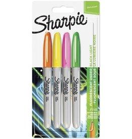 Sharpie Permanentmarker Fine, Rundspitze, Schreibf.: 4er neon sortiert