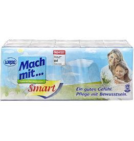 wepa Taschentuch Mach mit... Smart, Papier (RC), 15 x 10 Tücher, weiß