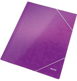 LEITZ Eckspanner WOW, PP-laminiert, Gummizugverschluss, A4, violett