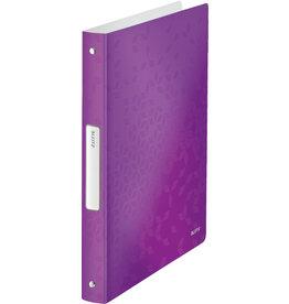 LEITZ Ringbuch WOW, PP, A4, 4-Rund-Ring-Mechanik, Ring-Ø: 25 mm, violett