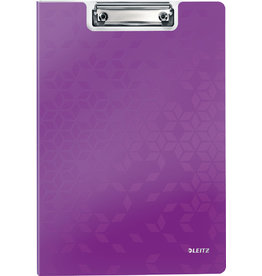 LEITZ Klemmblockmappe WOW, Polyfoam, Klemme kurze Seite, A4, violett