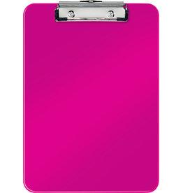 LEITZ Schreibplatte WOW, PS, Klemme kurze Seite, A4, 22,8 x 32 cm, pink