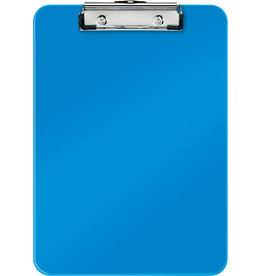 LEITZ Schreibplatte WOW, PS, Klemme kurze Seite, A4, 22,8 x 32 cm, blau