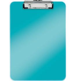 LEITZ Schreibplatte WOW, PS, Klemme kurze Seite, A4, 22,8 x 32 cm, eisblau