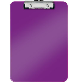 LEITZ Schreibplatte WOW, PS, Klemme kurze Seite, A4, 22,8 x 32 cm, violett