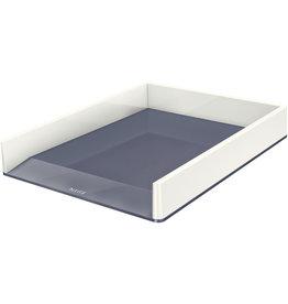 LEITZ Briefkorb WOW Duo Colour, PS, C4, 267 x 336 x 49 mm, weiß/grau